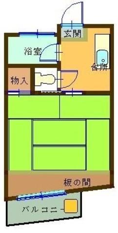 コーポ金子 / 2階 部屋画像1