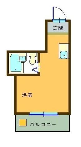 窪田マンション / 302 部屋画像1