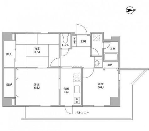 中川フラッツ / 401 部屋画像1