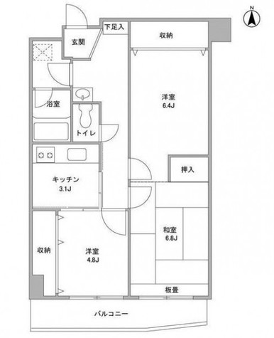 中川フラッツ / 404 部屋画像1