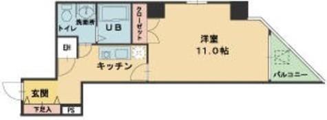 ヴィレ新宿御苑 / 3階 部屋画像1