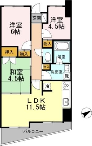 カスタリア阿倍野 / 1207 部屋画像1
