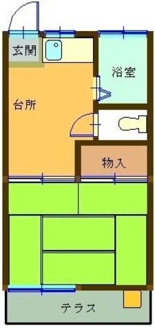 コーポコダチ / 1階 部屋画像1