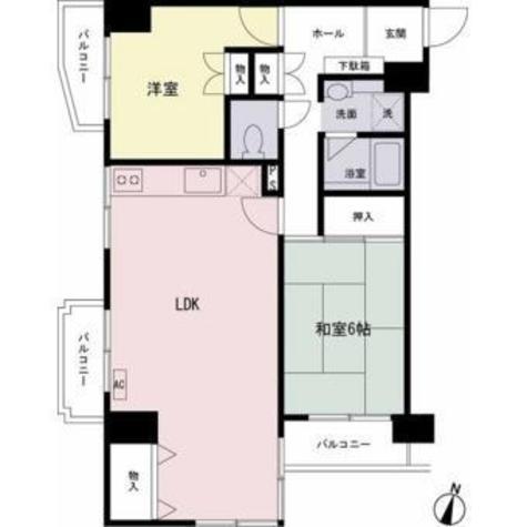 京王目黒マンション / 7階 部屋画像1