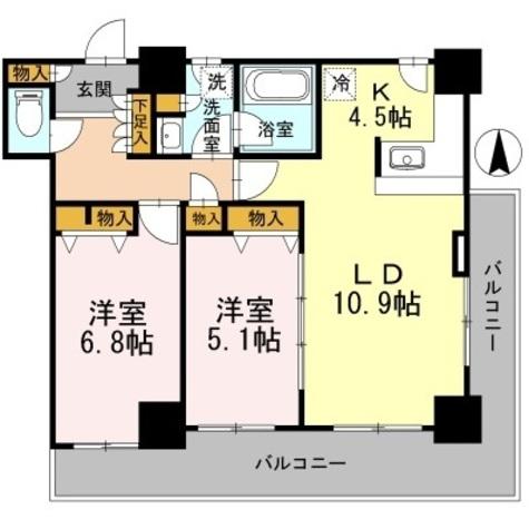 カスタリアタワー長堀橋 / 506 部屋画像1