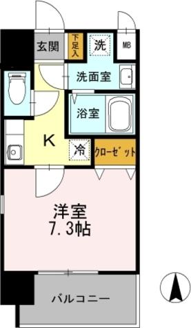 カスタリア新梅田 / 411 部屋画像1