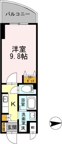 カスタリア新梅田 / 1103 部屋画像1