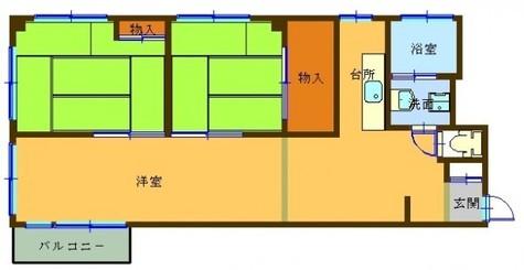 ロイヤルパレス喜正堂 / 607 部屋画像1