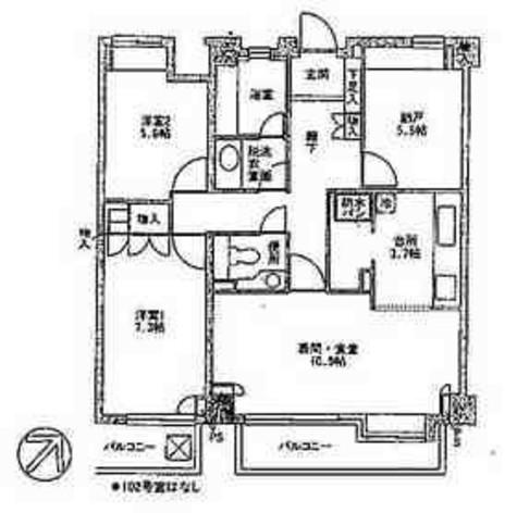 祐天寺 12分マンション / 1階 部屋画像1