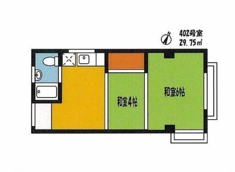 伊藤コーポ / 4階 部屋画像1
