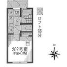 大崎 7分アパート / 202 部屋画像1