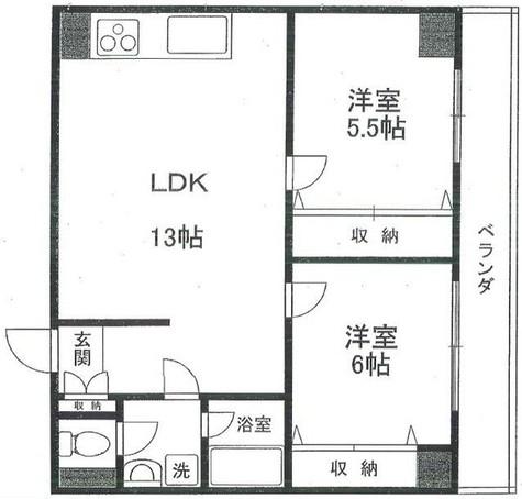 第5三和ビル / 302 部屋画像1