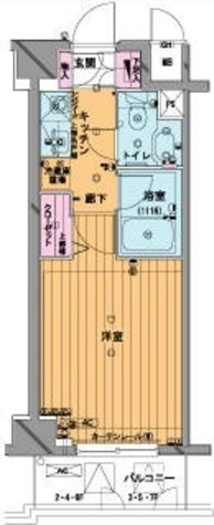 メゾン・ド・ヴィレ市ヶ谷 / 6階 部屋画像1