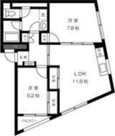 五本木アパートメンツ / 2階 部屋画像1