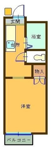 メゾンルピナス / 2階 部屋画像1