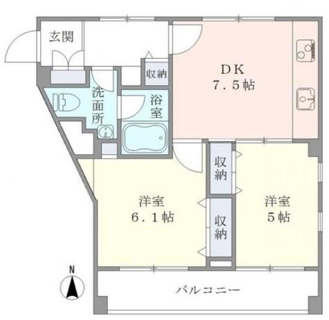 ウェルハウス東大井 / B棟104 部屋画像1