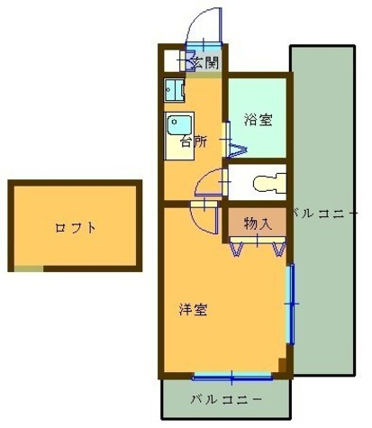 フォルジュロン / 2階 部屋画像1