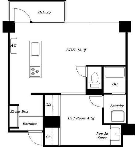 高輪タウンハウス / 3階 部屋画像1