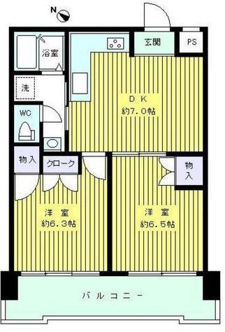パラスト目黒三丁目 / 10階 部屋画像1