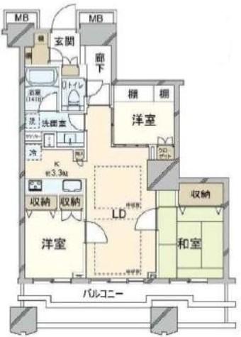 富久クロスコンフォートタワー / 48階 部屋画像1