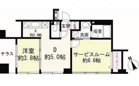 ホームズ高輪台 / 1階 部屋画像1