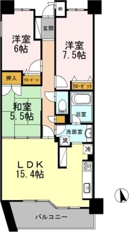 カスタリア阿倍野 / 802 部屋画像1