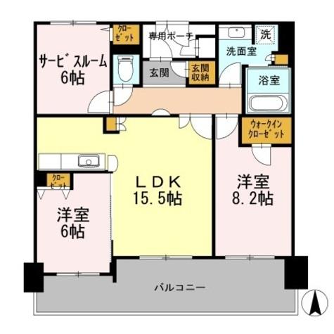 カスタリア日本橋高津 / 1002 部屋画像1