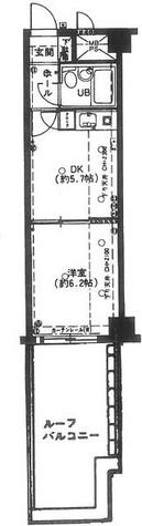 ダイアパレス新宿一丁目 / 410 部屋画像1