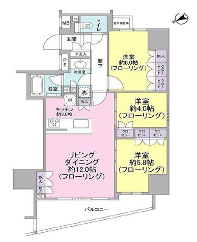 リビオ目黒リバーサウス / 4階 部屋画像1
