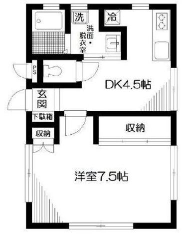 ストーン目黒 / 102 部屋画像1
