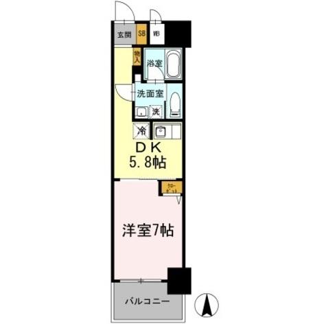 カスタリア日本橋高津 / 609 部屋画像1