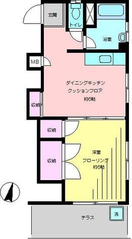 喜多マンション / 101 部屋画像1