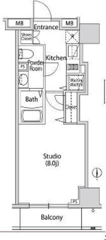カーサスプレンディッド南麻布 / 2f8 部屋画像1