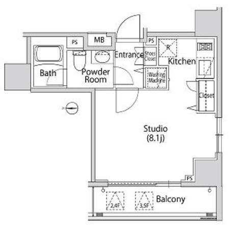 カーサスプレンディッド南麻布 / 3f4 部屋画像1