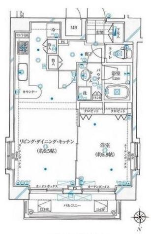 ガリシア浜松町(旧シンシア浜松町aria) / 12f1 部屋画像1