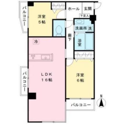 京王目黒マンション / 405 部屋画像1
