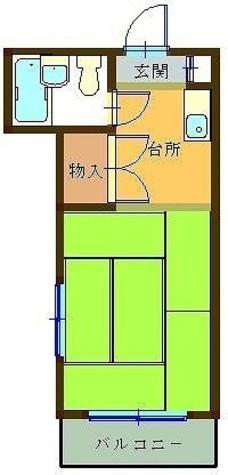 レジデンス小鮎 / 1階 部屋画像1