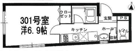 Aria Ebis(アリア エビス) / 3階 部屋画像1