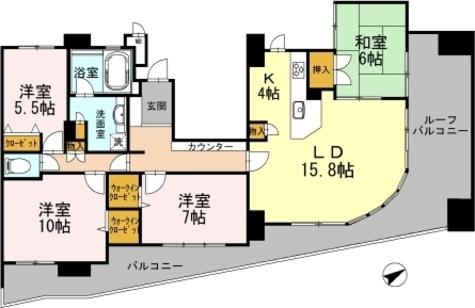 カスタリア阿倍野 / 1410 部屋画像1
