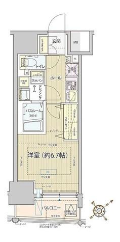 レビスタ白金高輪 / Cタイプ 部屋画像1