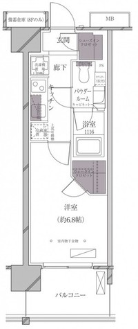 A-standard芝浦 / Fタイプ 部屋画像1