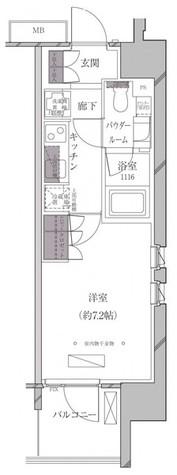 A-standard芝浦 / Dタイプ 部屋画像1