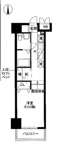 レジディア上野御徒町 / 603 部屋画像1