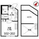 カノセモア横浜Ⅱ(Kanoc'estMoi横浜Ⅱ) / 102 部屋画像1