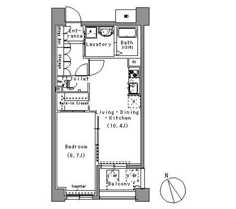 パークアクシス白壁 / 508 部屋画像1