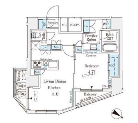 ベルファース西五反田 / 14階 部屋画像1