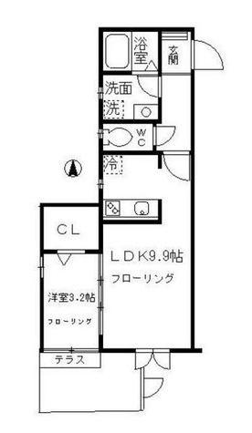 シャンブル三田 / 2階 部屋画像1