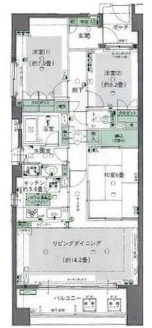グランヴェール目黒 / 506 部屋画像1