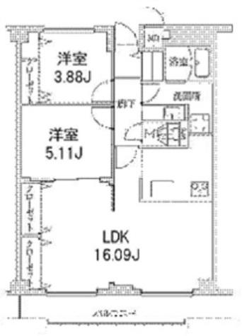 ヒルフォート目黒 / 3階 部屋画像1