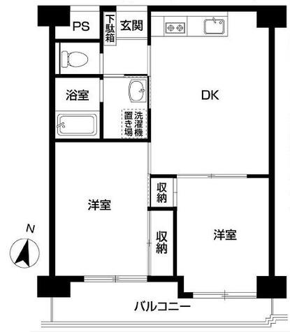 京王目黒マンション / 7F 部屋画像1